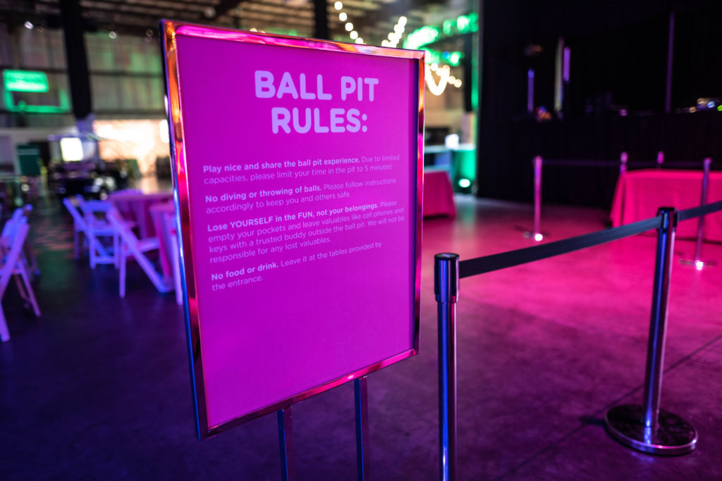 Ball Pit Rules