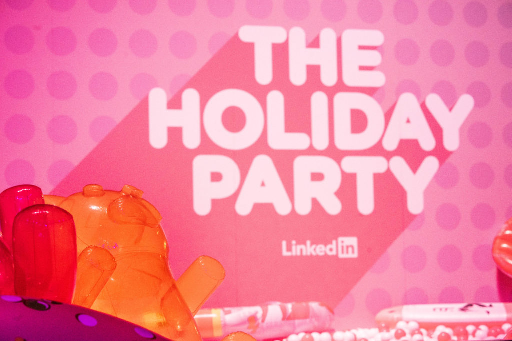 Linked In Holiday Party Ball Pit